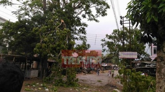 Storm rattles Southern Tripura