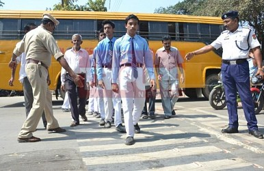 Traffic Police held awareness campaign about Zebra Crossing at IGM Chowmuhani. TIWN Pic Feb 27
