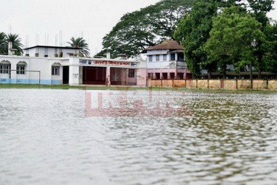 AMC's mass corruption, poor planning turned Manik Sarkar's 'SMART CITY' Agartala into public drain  : Capital City's School Education paralyzed after one day rain
