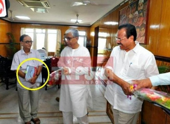 Worried scam-master Manik Sarkar welcomes' Central Statistics and Programme Implementation' Minister : Tapan Chakraborty working hard to match Tallies (?)
