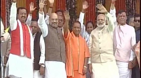 Yogi Adityanath takes oath as UP's 21st CM