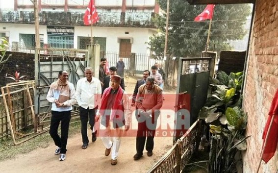 Closed door meeting led by Manik Sarkar for whole day, evening at Dhanpur Party Office