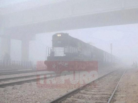 Fog, Cold wave grip Tripura : Trains delayed