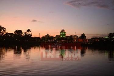 Evening view of Ujjayanta Palace at Agartala. TIWN Pic Aug 19