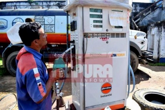 Petrol price rises to Rs. 70.93 on Wednesday in Tripura