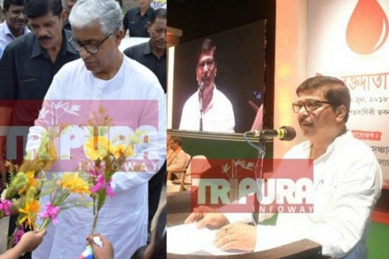 'Ex-CM Manik Sarkar should be awarded for Tripura's success in blood donation campaigning' : Health Minister Sudip Barman
