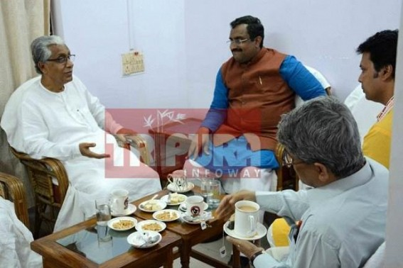Manik Sarkar's failure as Opposition Leader to expose BJP numbs CPI-M