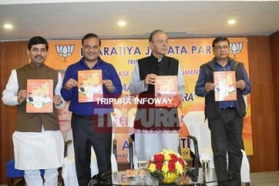 'Five' months of Tripura BJP-Govt : 'Zero' progress of 'Ten' major promises in Vision Document