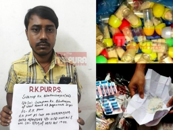 Drug kingpin, Udaipur's Narcotics smuggling syndicate Swarup Bhattachajee arrested late Tuesday night ; Many kingpins to be under the grip soon !