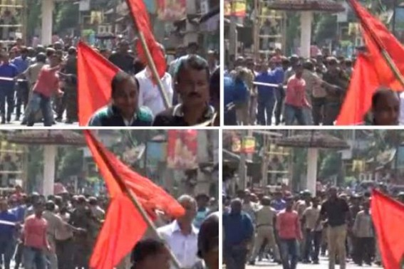 BJP's Fascist Face insulting Indian Democracy : BJP Hooligans viral celebration after attacking CPI-M rally,Pre-Plan attack in Belonia once again exposed 'No Opposition' Party Policy