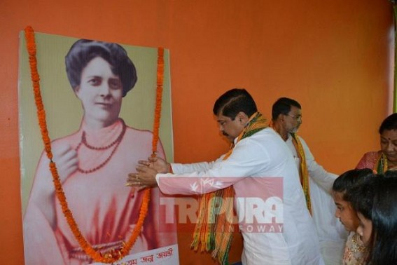 Tripura remembers Sister Nivedita on her 152nd birth anniversary