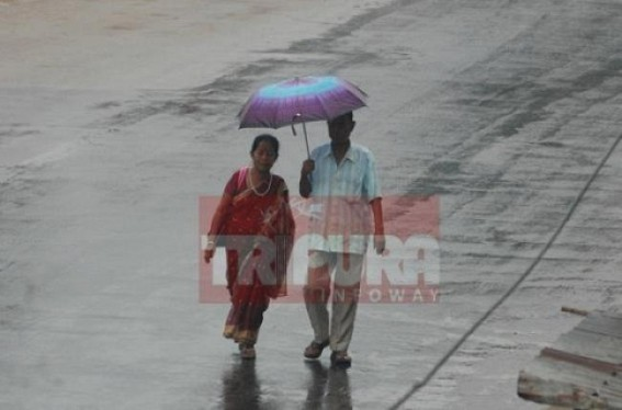 Moderate showers in Tripura to continue in next 24 hours