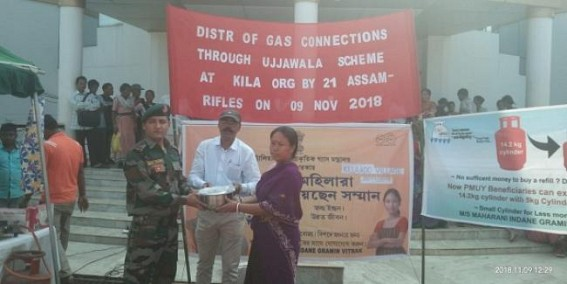 Assam Rifles facilitated distribution of free LPG gas connections