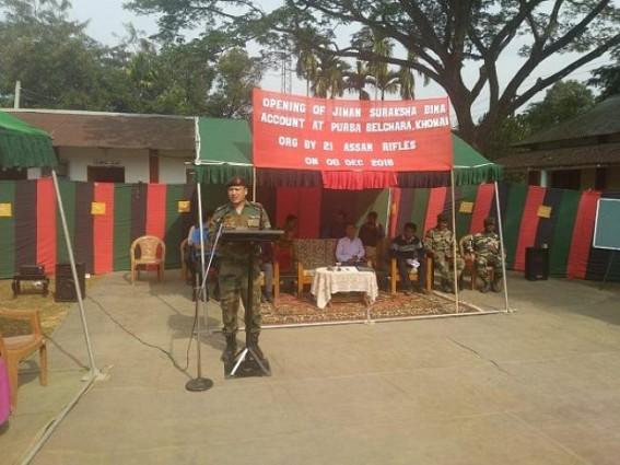 Assam Rifles facilitated opening of Jeevan Suraksha Bima Yojna accounts
