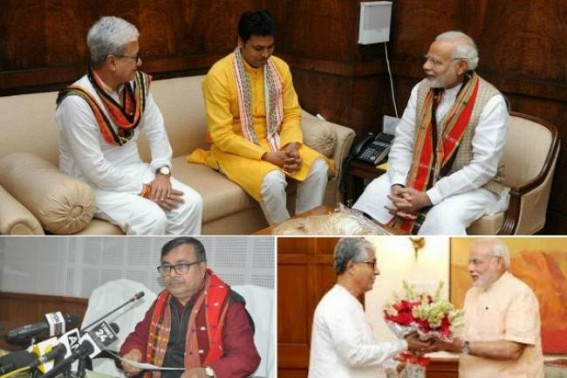 Modi's deprivation to Tripura exposed ! Ratan Lal blames Manik Sarkar for 'too much' infrastructure spending amid 'Fund Crisis'(under Modi Era from 2014), exposed CPI-M Govt's developmental efforts amid BJP's JUMLA