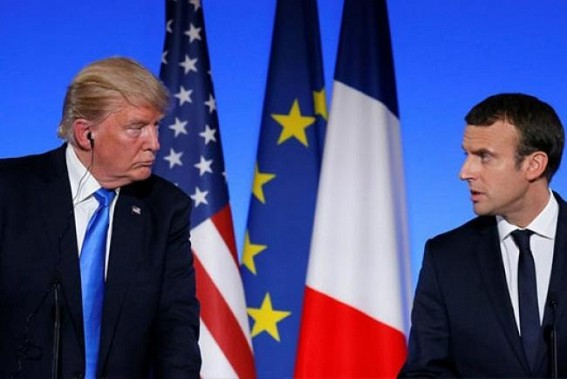 Syria conflict: Macron criticises Trump's withdrawal decision