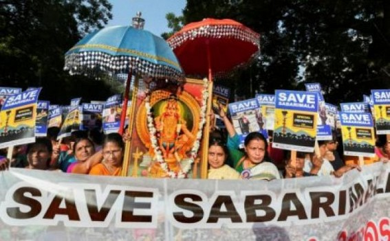 2 women stopped 1km from Sabarimala, police lathi-charge protesters