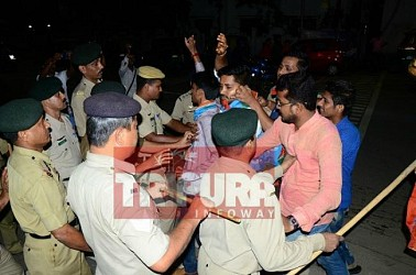 NSUI gheraos CM's residence protesting against TMC fee hike. TIWN Pic June 22