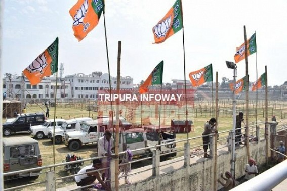 Preparations on peak for Prime Minister's last Election rallies in Tripura : Security beefed up at Agartala, Santir Bazar