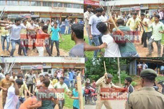 Tripura BJP Govt's Anti-Poor Policies causing mass vexation after banning Sand-mining business : Road blockaders mass beaten, clashes, lathi charge by police led chaos in Capital City