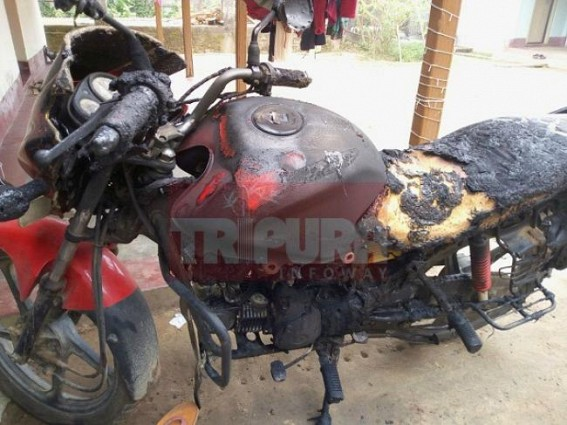 BJP worker's bike burnt at Khayerpur