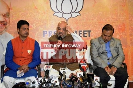 Congress helping CPI-M in Tripura: Amit Shah