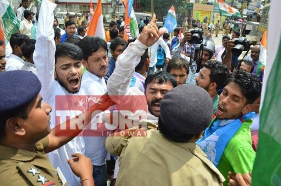 Congress launches AKROSH rally in Tripura to protest against party offices bulldozing by BJP Govt : All arrested
