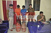 Police booked Cooking Gas Cylinder robbers in Agartala
