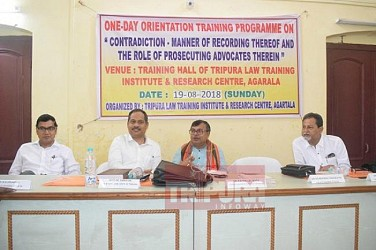 One day orientation programme held in Agartala District Court. TIWN Pic Aug 19