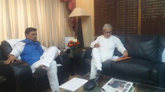 Tripura Deputy CM meets Union Power Minister at Delhi