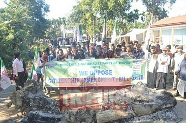 INPT blocks national highway opposing proposed Citizenship Bill. TIWN Pic Dec 10