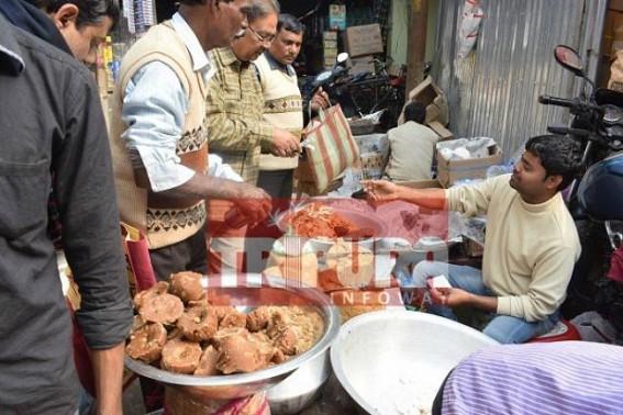 Busy markets ahead of Makar Sankranti