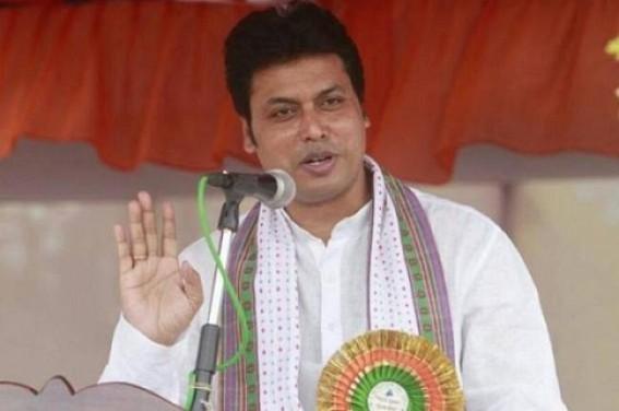 Biplab Deb left for Delhi by making Tripura 'Mini Kashmir' : Mobile-internet shutdown on Day 4