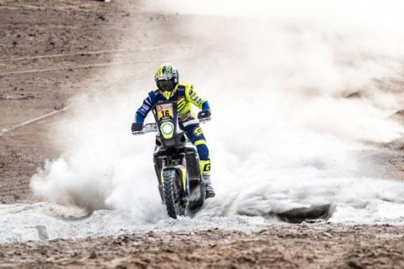 TVS rider Aravind lone Indian to survive Stage 5 of Dakar Rally