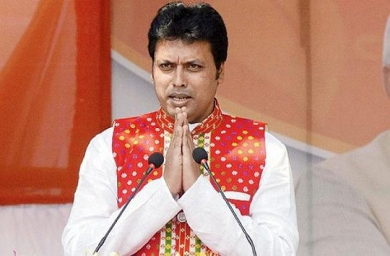Biplab Deb sought 'Gyan' for 37 lakhs people of Tripura from Goddess Saraswati