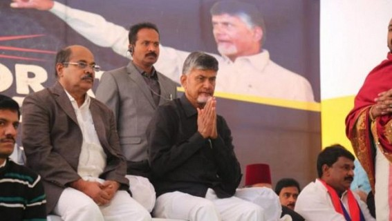 Andhra CM begins fast in Delhi for special status