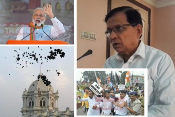 Attacks on two former Ministers, MP in Tripura after Modi's departure : Badal Choudhury slams Modi, says, 'First PM welcomed with Black Flags in Northeast'
