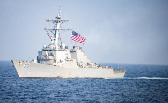 US warships sail near South China Sea islands