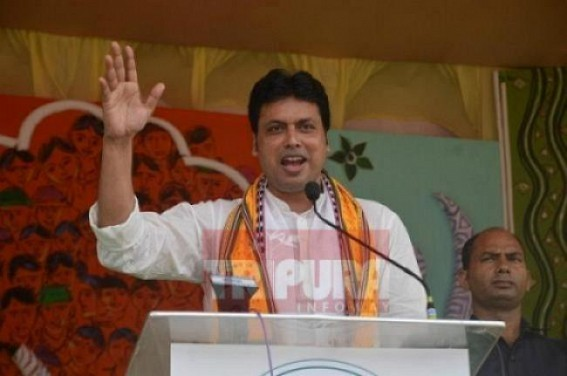 Biplab motivates BJP activists to increase 'will power' to stand under the Sun
