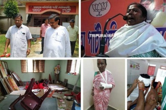 Biplab-Pratima Crime Empire : CPI-M released horrifying post-poll violence episodes in West Tripura : Tension prevails across state under BJP's mafia-regime