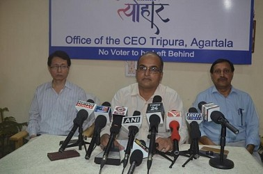 CEO Sriram Taranikanti addressing media. TIWN Pic April 21