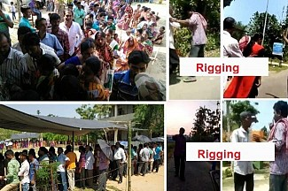Drastic fall in Tripura voting percentage at 79%, Rigging, prevention of voters reported : Public fight against JUMLA Party's Biplab-Pratima led Criminals
