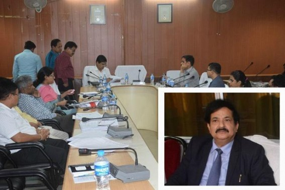 BJP's West Tripura Poll rigging : ECI Special Observer Vinod Zutshi held crucial meeting at DM office, checking all footage of election rigging