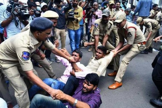 Protest intensifies in Telangana over exam goof-up