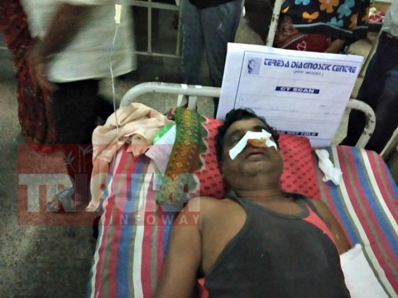 Lawlessness ! Man attacked by miscreants in broad-day light, left injured at Udaipur town area