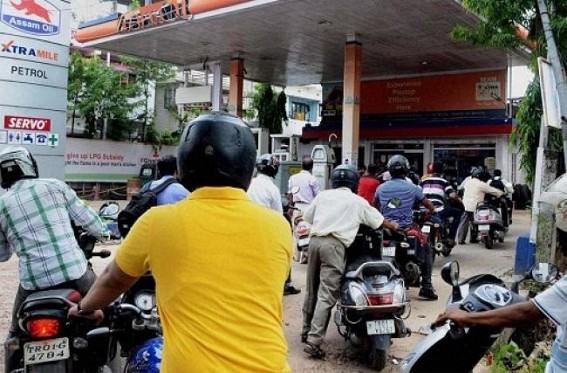 Petrol price remains unchanged in Agartala for 3 days at Rs. 70.74