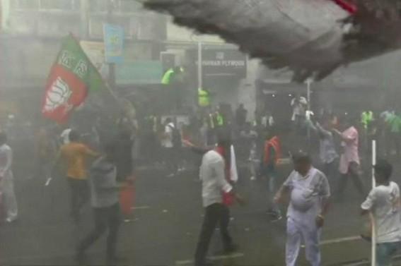 Didi-BJP face-off: Water canons greet saffron brigade at Lalbazar