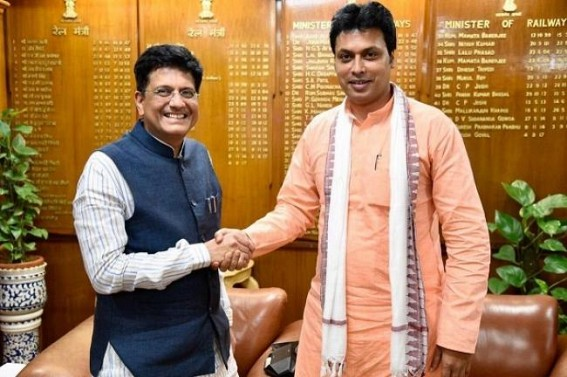 Tripura CM greets Union Railway Minister on his birthday