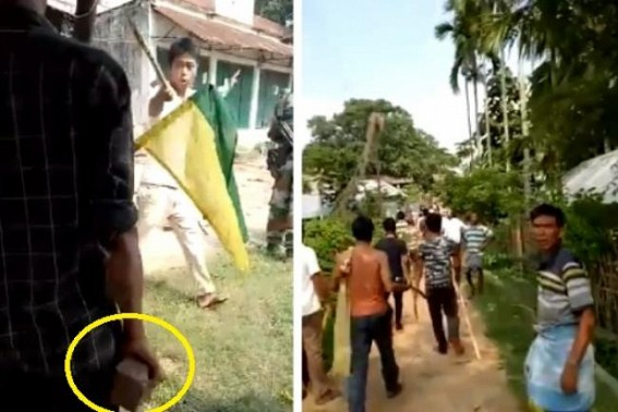 Heavy clash continues in Gandachera between BJP, IPFT, viral footage in social media creates panic