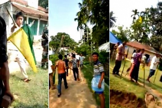 Ruling BJP, IPFT clash in Tripura turns critical : Mob-gathering, stone pelting becoming unmanageable for Security personnel